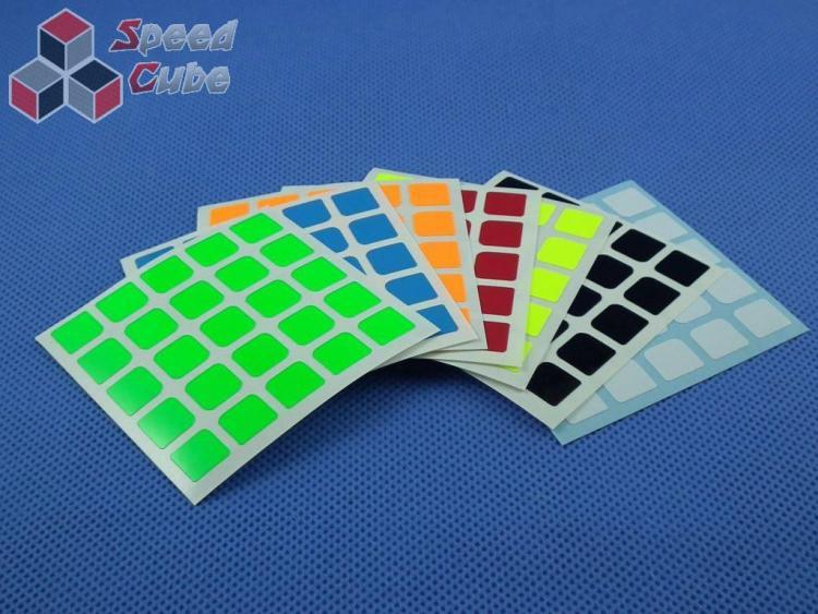 Naklejki 5x5x5 Halczuk Stickers MoYu Fluo