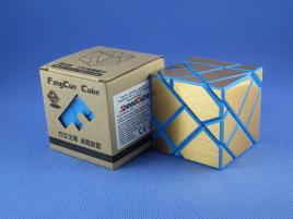 FangCun Ghost Cube Blue Body Gold Stickers