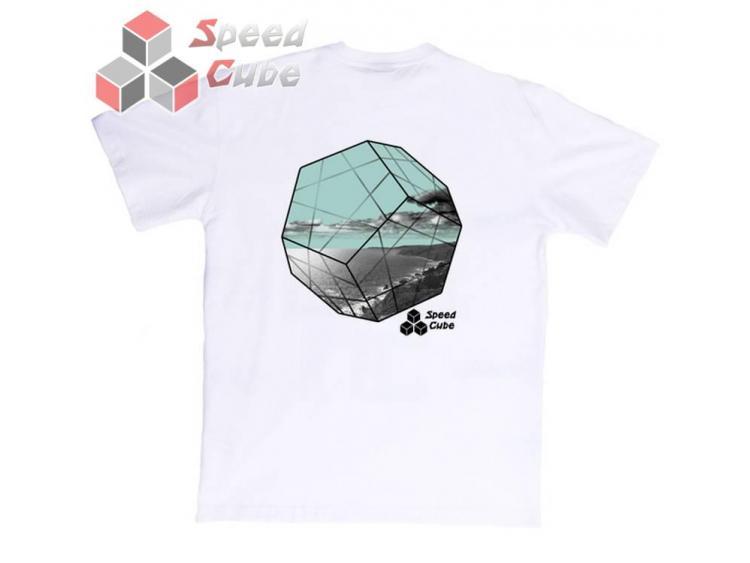 Koszulka T-Shirt z nadrukiem Biała MINX BLUE L