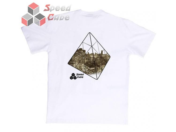 Koszulka T-Shirt z nadrukiem Biała PYRKA BROWN M