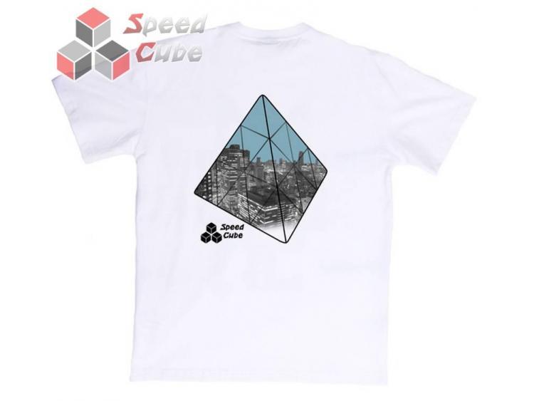 Koszulka T-Shirt z nadrukiem Biała PYRKA BLUE L
