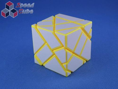 FangCun Ghost Cube Yellow Body White Stickers