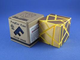 FangCun Ghost Cube Yellow Body Gold Stickers