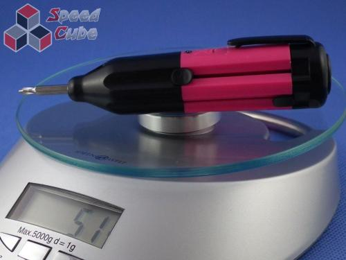 Śrubokręt 5 końcówkowy z 1 diodą Led PiNK