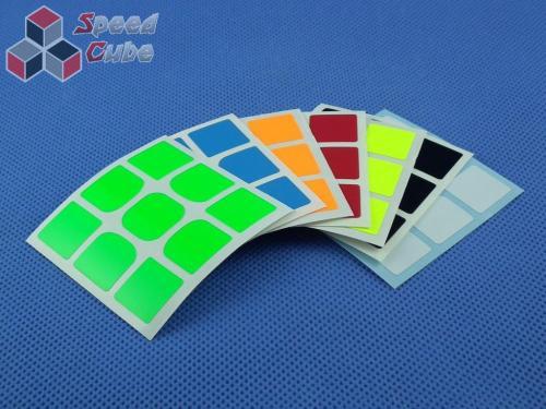 Naklejki 3x3x3 Halczuk Stickers YueXiao Fluo