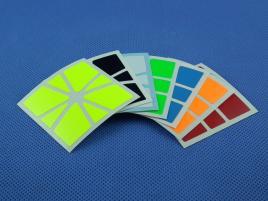 Naklejki Square-1 SQ-1 Halczuk Stickers QiYi Fluo