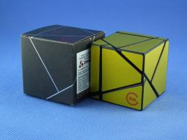 Funs Lim Ghost Cube 2x2 Black Body Gold Stickers