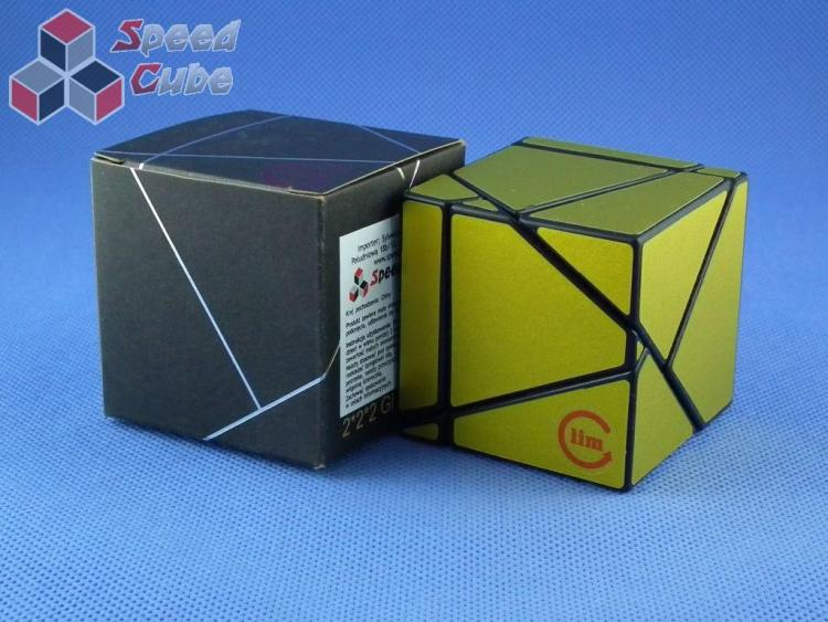 Funs Lim Ghost Cube 2x2x2 Black Body Gold Stickers