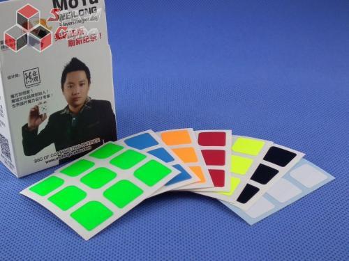 Naklejki 3x3x3 Halczuk Stickers WeiLong Fluo