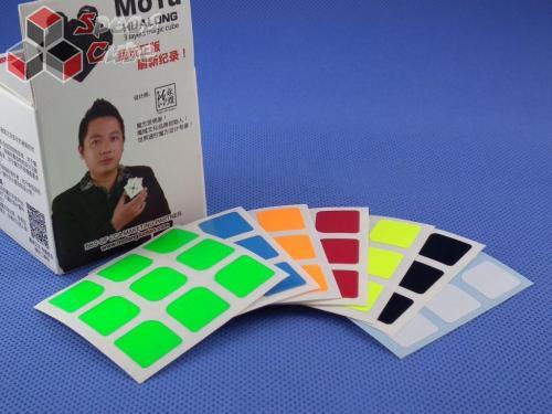 Naklejki 3x3x3 Halczuk Stickers HuaLong Fluo