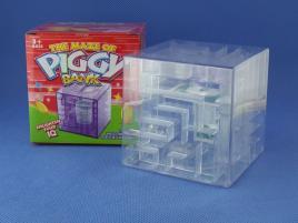 Maze Piggy Bank Box Biała