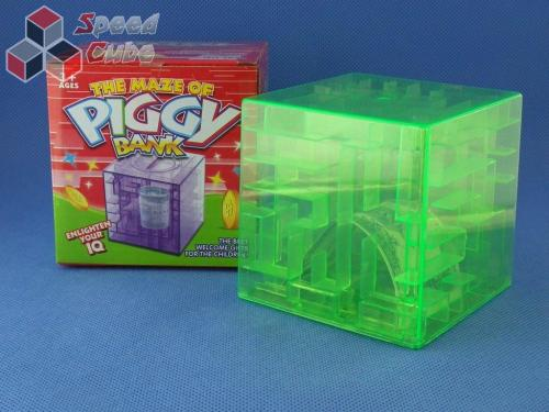 Maze Piggy Bank Box Zielona