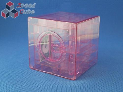 Maze Piggy Bank Box Różowa