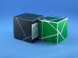 Funs Lim Ghost Cube 2x2 White Body Green Stickers