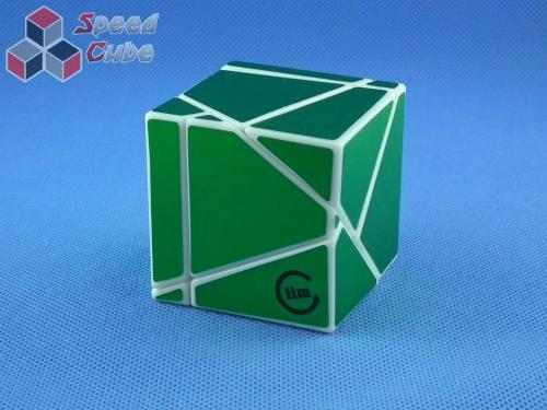 Funs Lim Ghost Cube 2x2x2 White Body Green Stickers