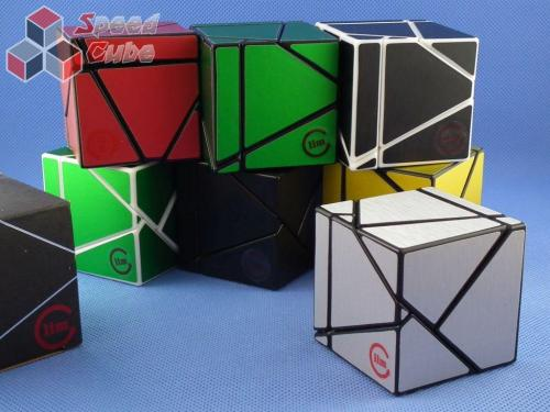Funs Lim Ghost Cube 2x2x2 Black Body Green Stickers