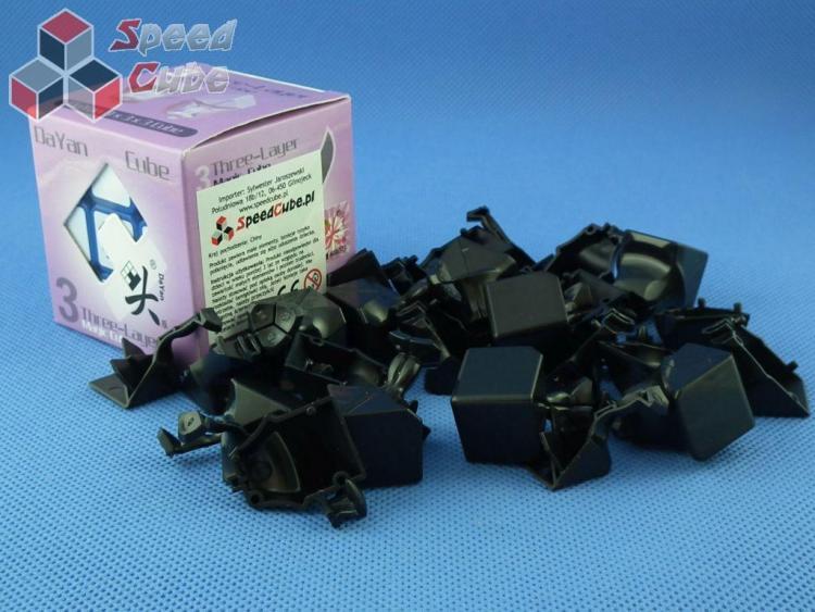 Części DaYan 5 ZhanChi 3x3x3 Czarna 57 mm