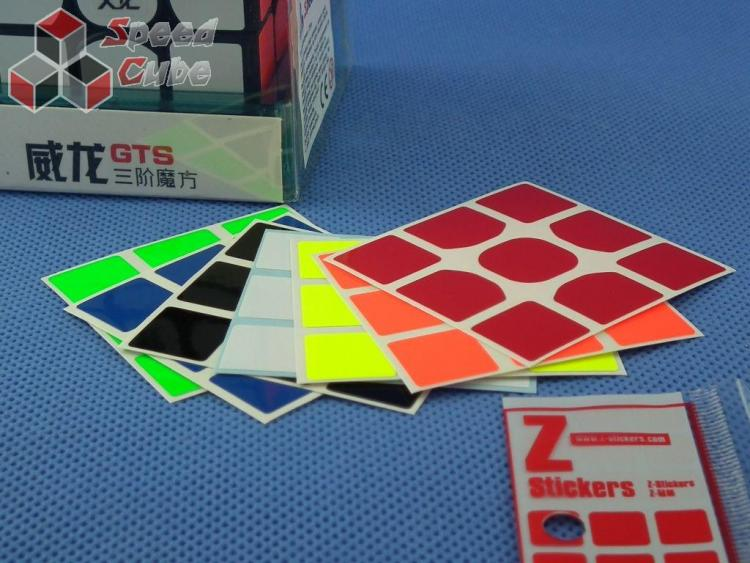 Naklejki 3x3x3 Z-Stickers WeiLong GTS Half Bright