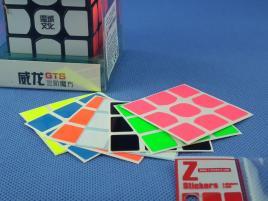 Naklejki 3x3x3 Z-Stickers WeiLong GTS Full Bright