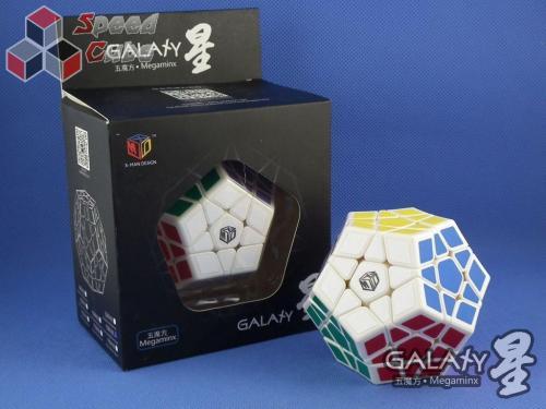 QiYi MoFangGe X-Man Megaminx GalaXy Concave Biała