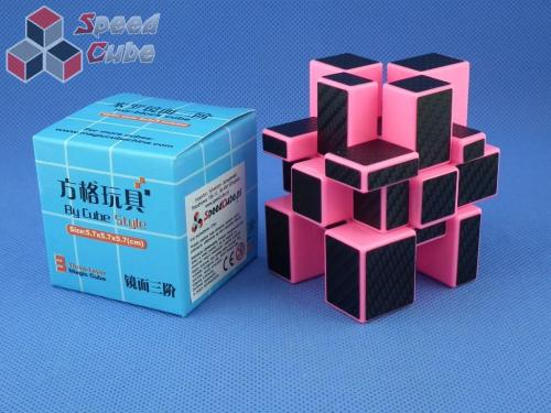 Cube Style Mirror 3x3x3 PiNK Body - CarBon stickers