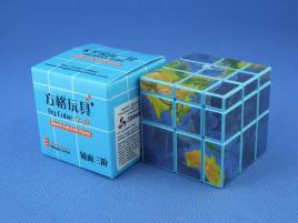 Cube Style Mirror 3x3x3 Blue GloBus