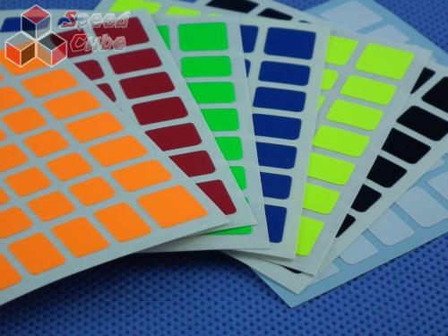 Naklejki 7x7x7 Halczuk Stickers AoFu GT Fluo Dark Blue