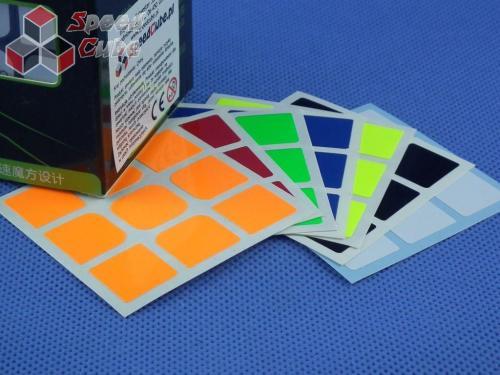 Naklejki 3x3x3 Halczuk Stickers YueXiao Fluo Dark Blue