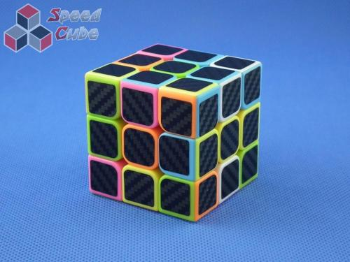 Cube Style 3x3x3 PiNK- CarBon stickers 57 mm