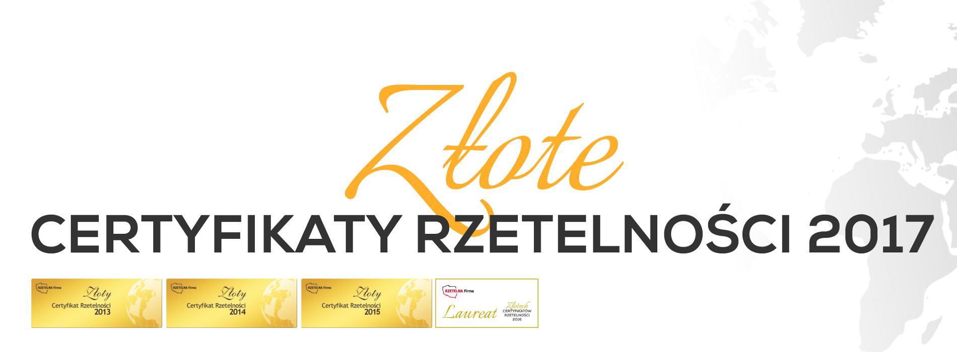 SpeedCube- Złoty Certyfikat 2013-2017