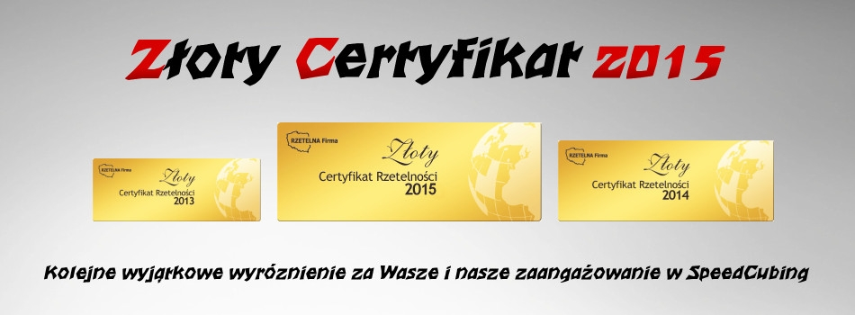 SpeedCube- Złoty Certyfikat 2015